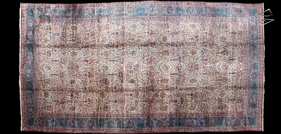 15x30 Persian Kerman Rug