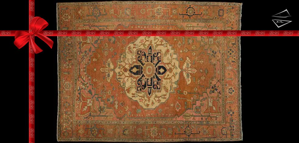 9x12 Antique Persian Serapi Rug
