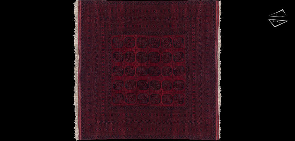 15x15 Afghan Ersari Square Rug