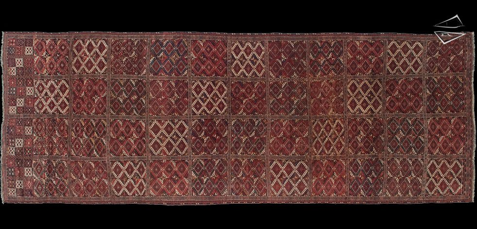 11x30 Antique Turkmen Rug