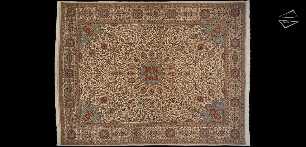 13x17 Ardabil Persian Tabriz Rug