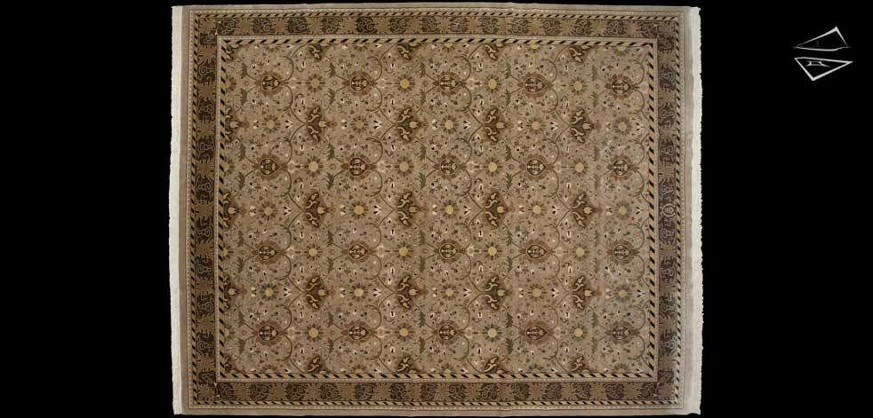 12x15 Arts & Crafts Voysey Rug
