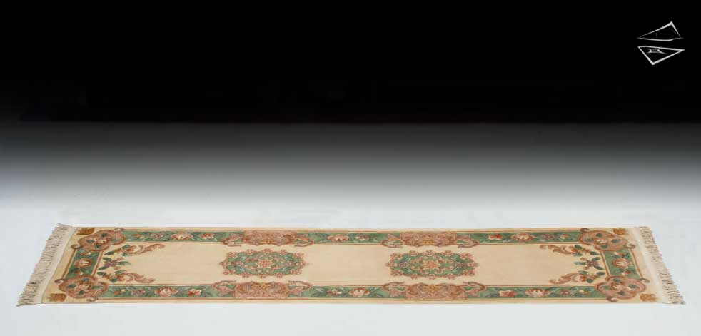 2x9 Aubusson Design Rug Runner