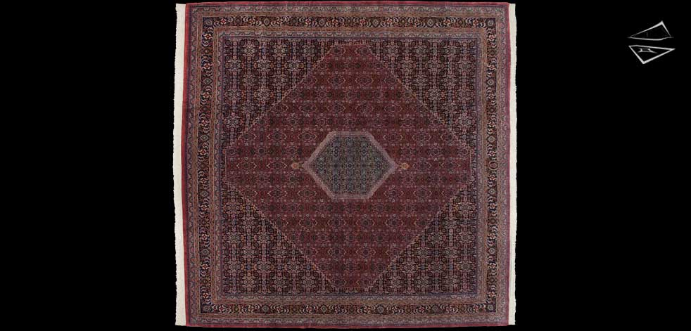 12x12 Bidjar Design Square Rug