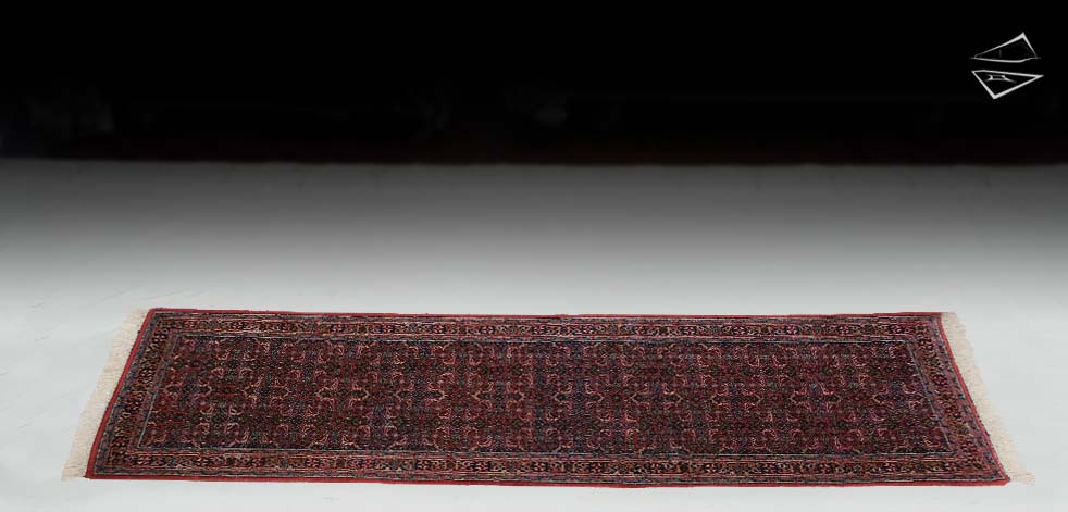 "2'6""x9 Bijar Design Rug Runner"