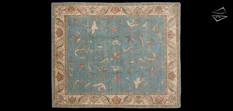 8x10 Bird Karabagh Design Rug