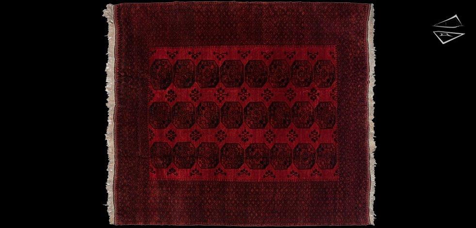 12x14 Ersari Afghan Rug