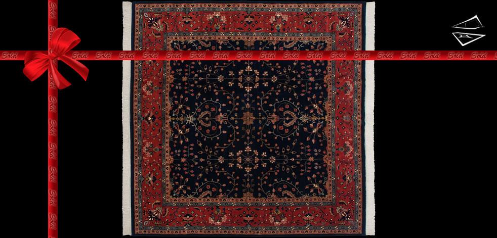 10x10 Feraghan Sarouk Design Square Rug