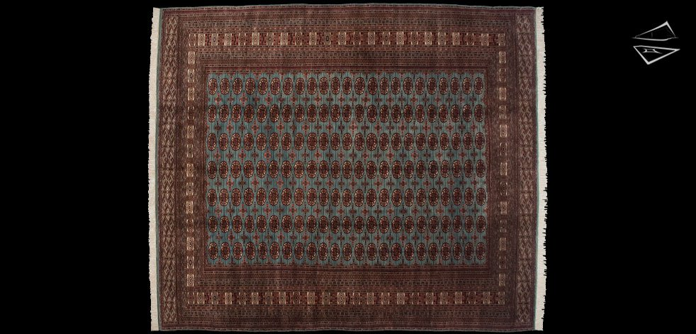 12x14 Fine Bokhara Square Rug