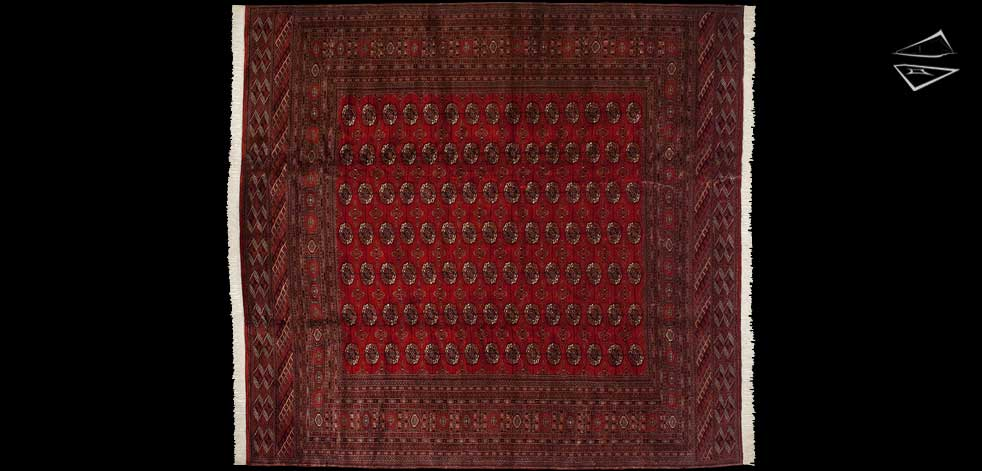 12x13 Fine Bokhara Square Rug
