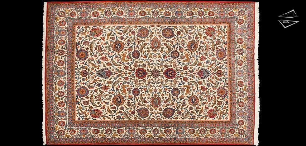 Fine Persian Qum Rug 9 X 13