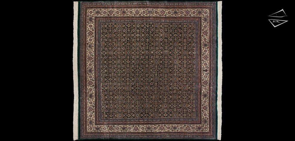10x10 Herati Design Square Rug