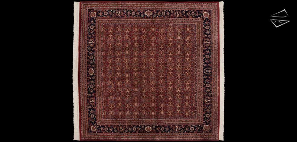 10x10 Herati Tabriz Design Square Rug