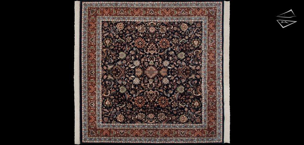 10x10 Kashan Design Square Rug