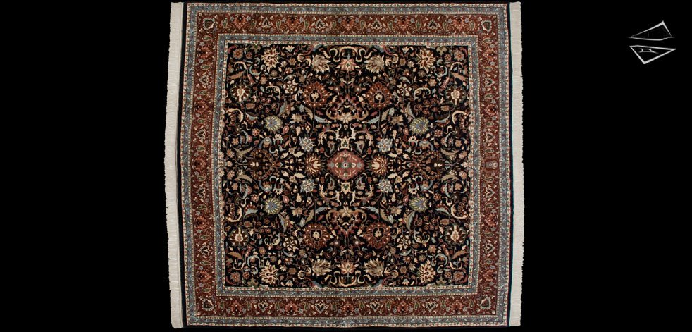 12x12 Kashan Design Square Rug