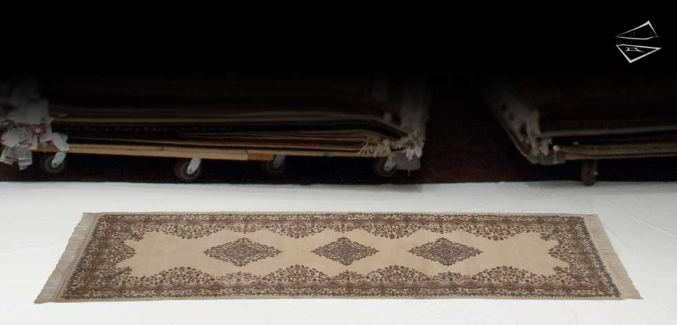 3x9 Kerman Design Rug Runner