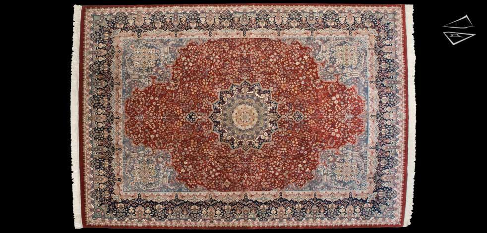 9x13 Kerman Design Rug