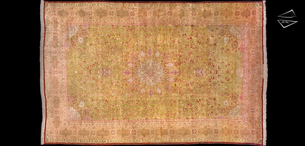 Antique Persian Tabriz Silk Rug 16 X 24