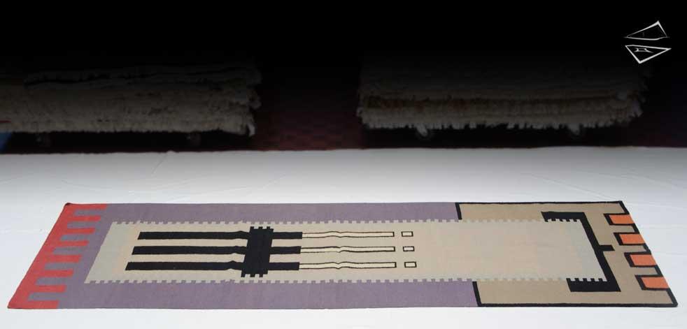 4x12 Modern Design Kilim Style Rug Runner