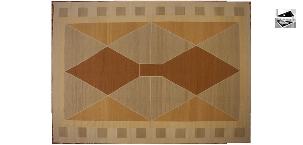 10x14 Modern Dhurrie Rug
