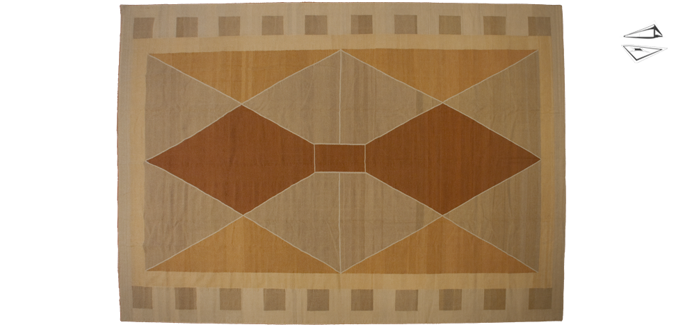 12x18 Modern Dhurrie Rug