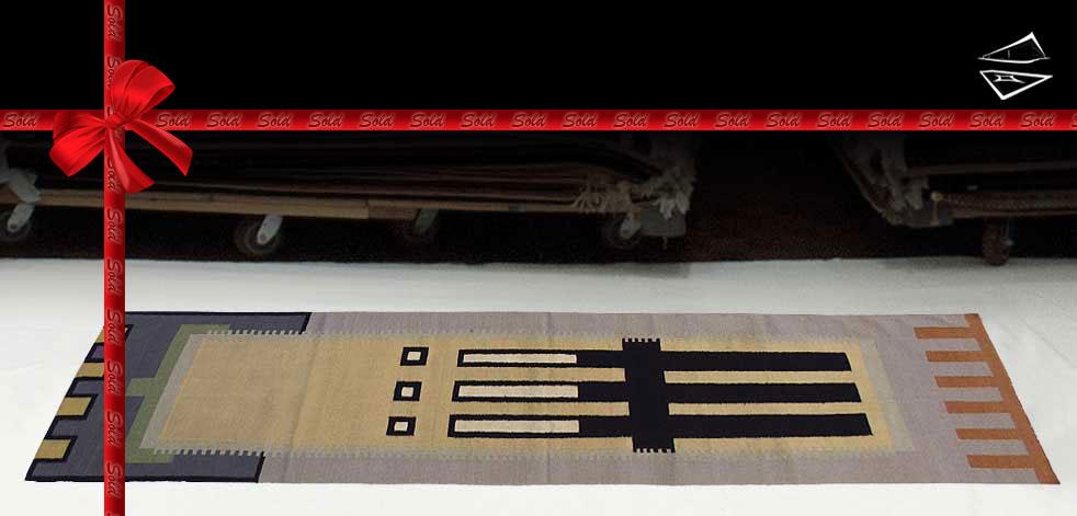 3x12 Modern Dhurrie Rug Runner