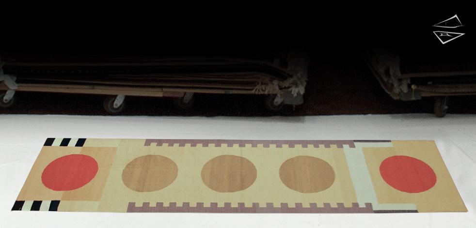 3x9 Modern Dhurrie Rug Runner