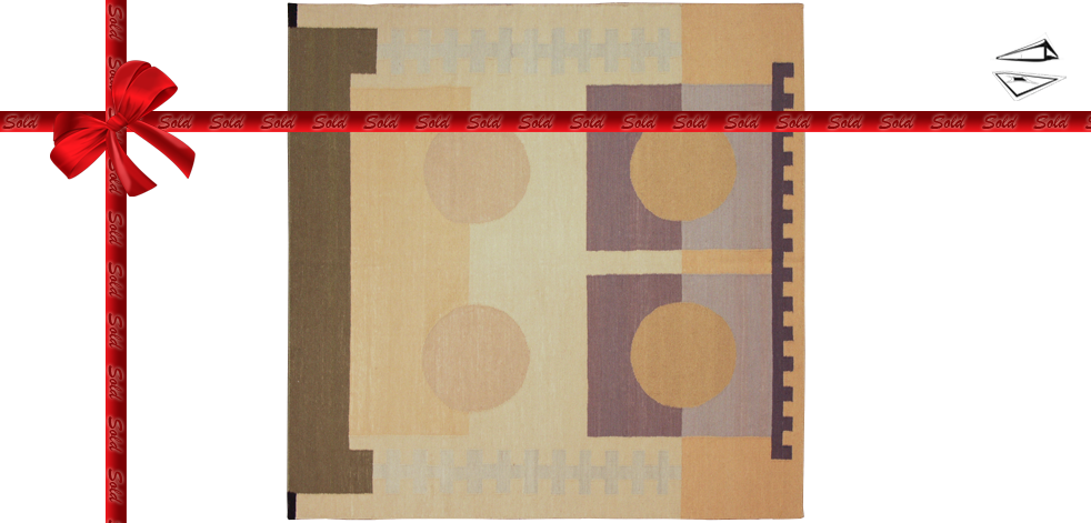 12x12 Modern Dhurrie Rug