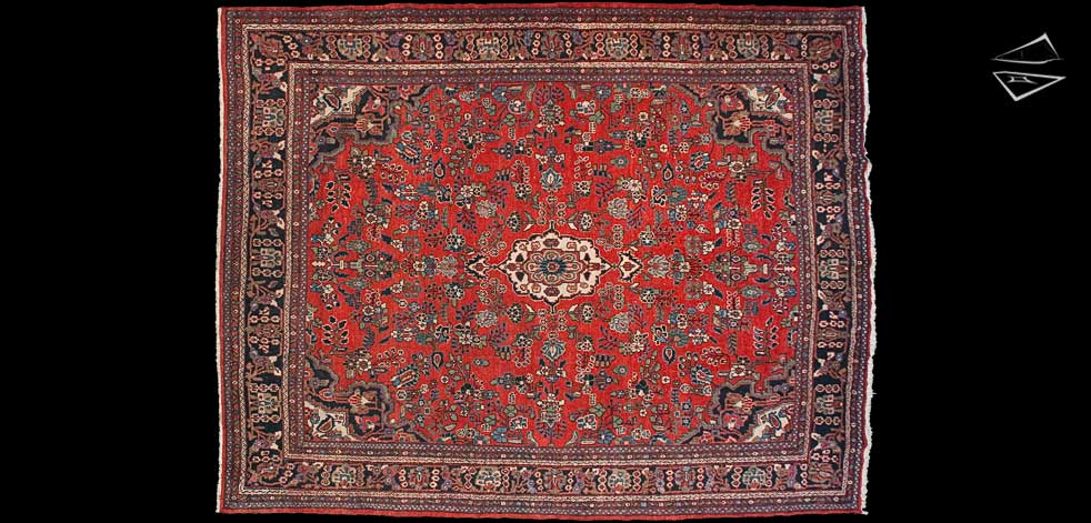 9x11 Persian Hamadan Rug