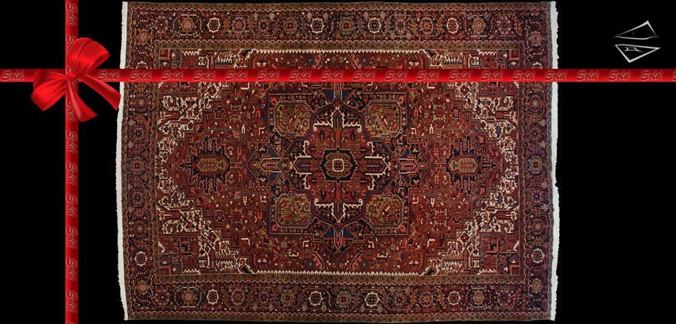 12x15 Persian Heriz Rug