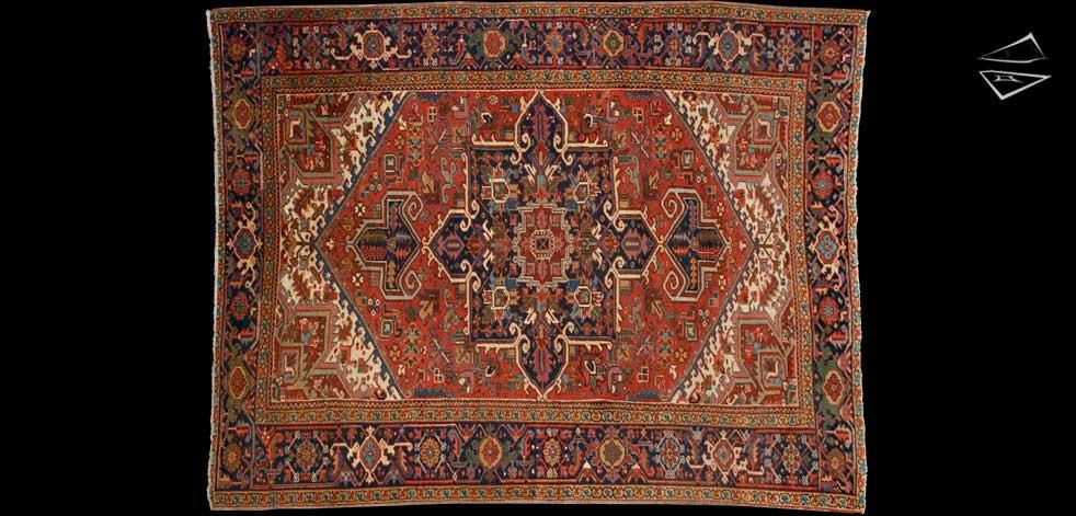 7x9 Persian Heriz Rug