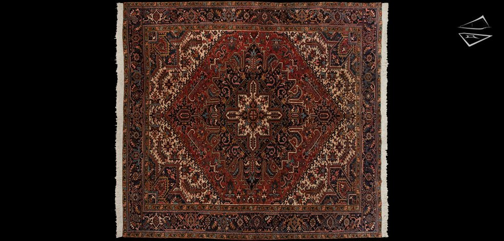 10x11 Persian Heriz Square Rug