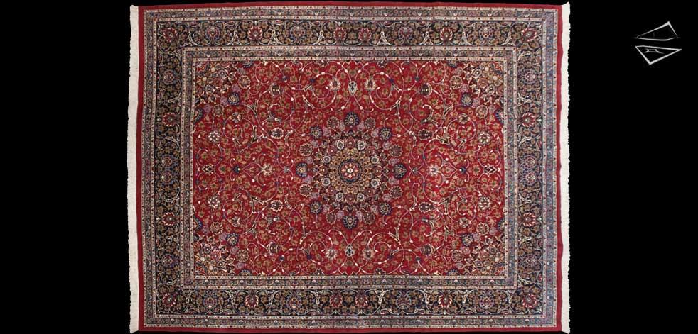 10x13 Persian Kashan Rug