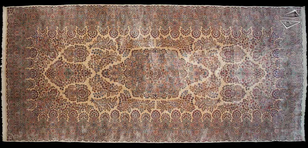 9x20 Persian Kerman Rug