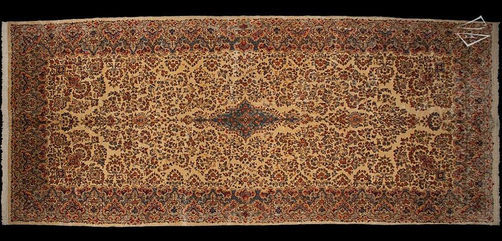 10x24 Persian Kerman Rug