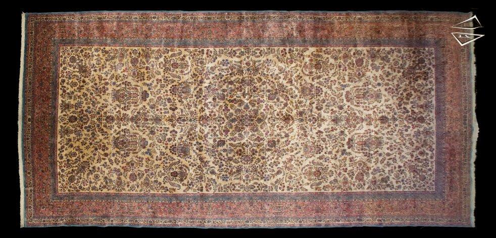 11×23 Persian Kerman Rug