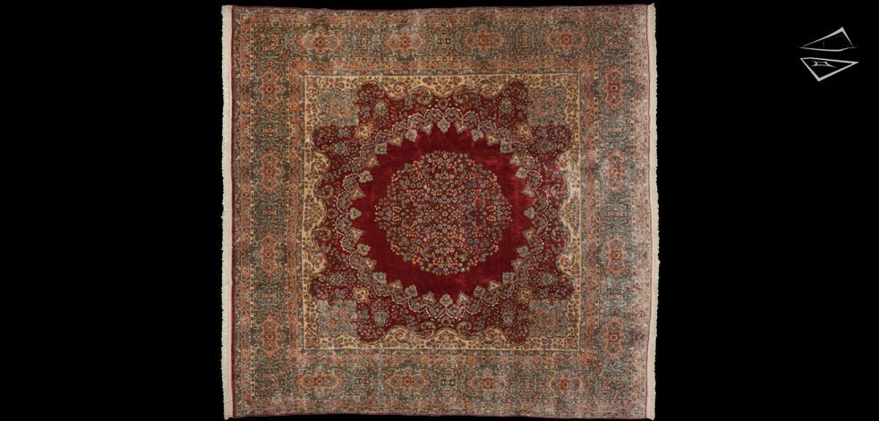 12x12 Persian Kerman Rug