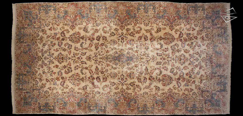 12x23 Persian Kerman Rug