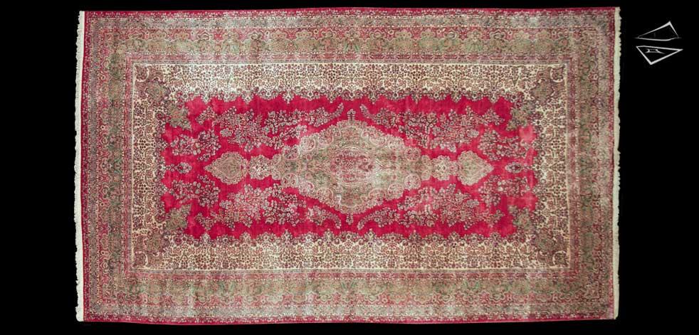 13x22 Persian Kerman Rug