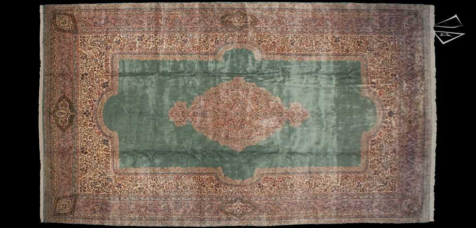 13x23 Persian Kerman Rug