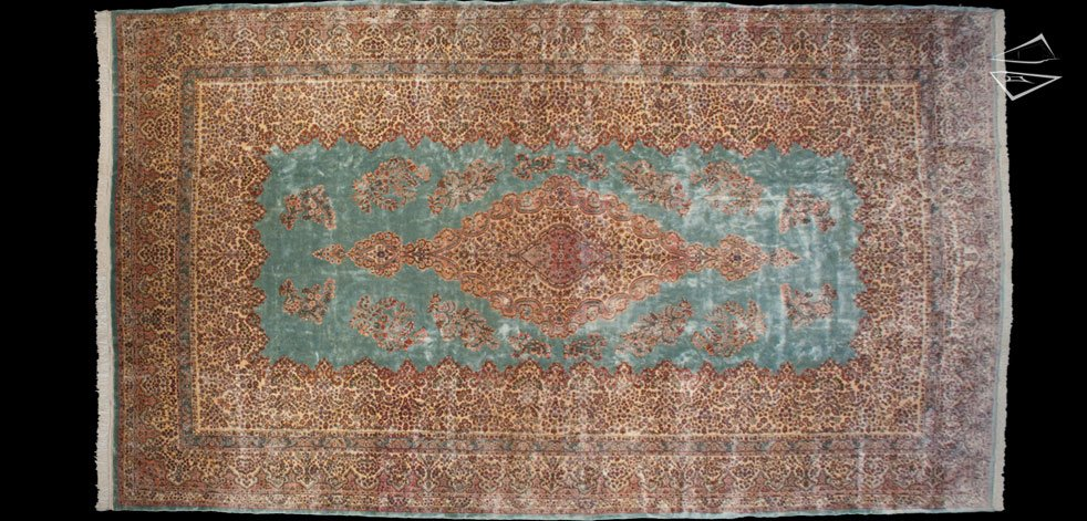 13x23 Persian Kerman Rug