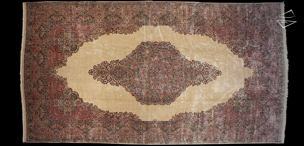 13x24 Persian Kerman Rug