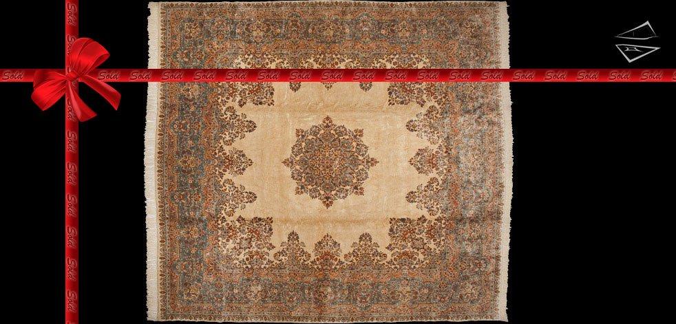 14x14 Persian Kerman Rug
