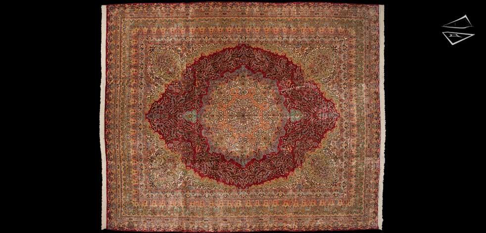 14x17 Persian Kerman Rug