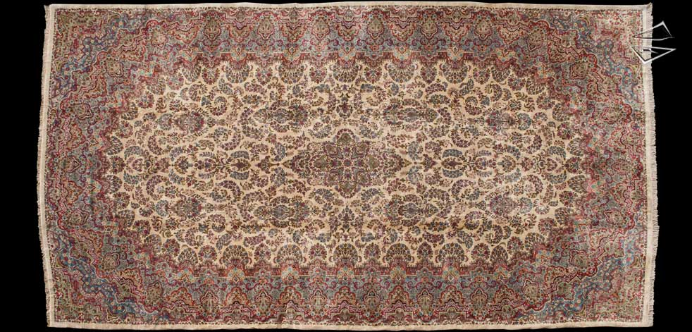 14x26 Persian Kerman Rug