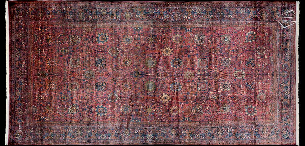 14x28 Persian Kerman Rug