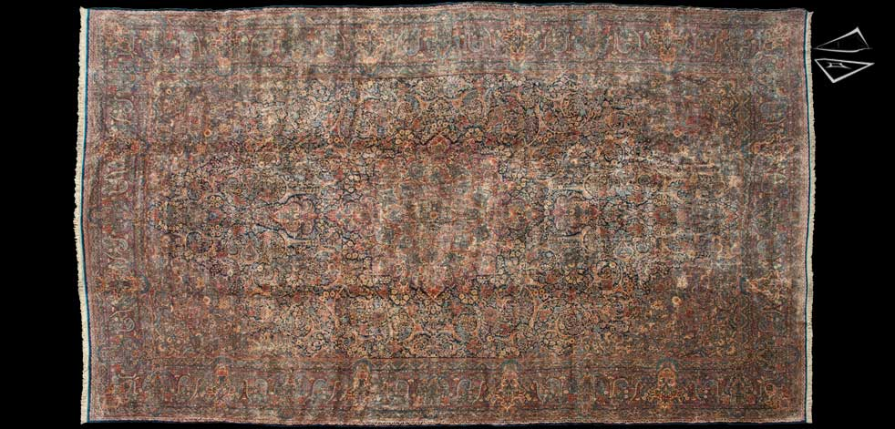 15x26 Persian Kerman Rug