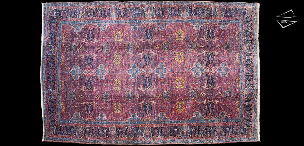 16x29 Persian Kerman Rug