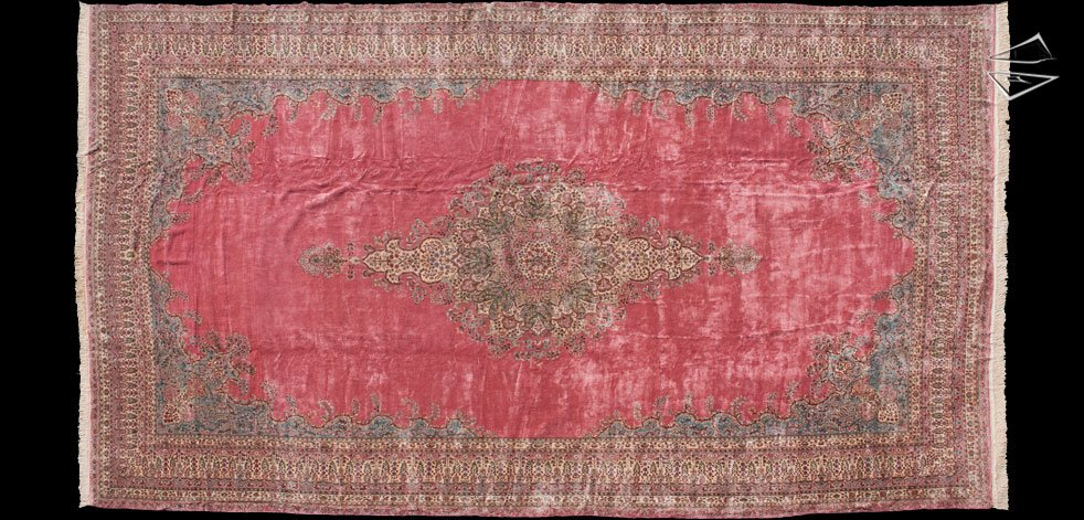 15x27 Persian Cyrus Crown Kerman Rug