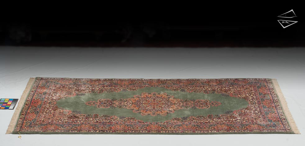 5x10 Persian Kerman Crown Rug Runner